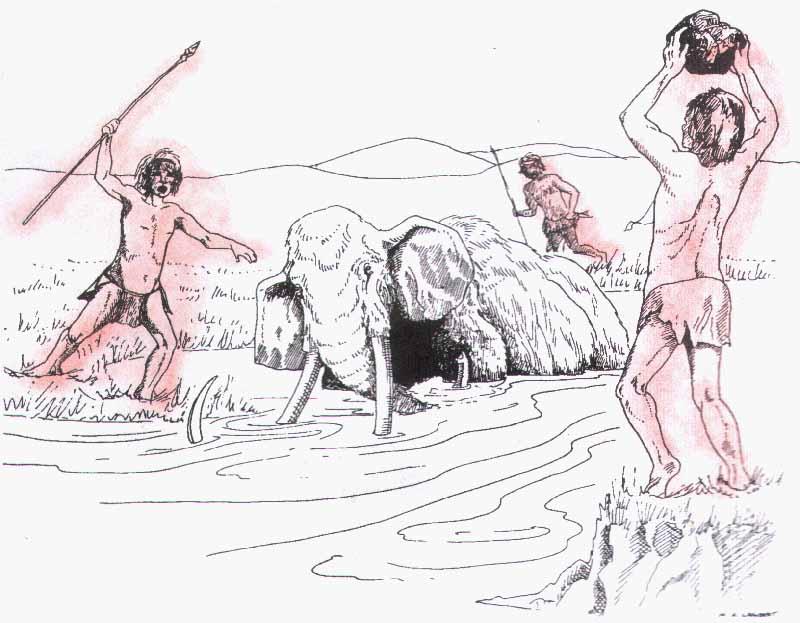 Мамонт рисунки первобытные люди